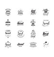 greeting cards design isolated logos typography vector image vector image