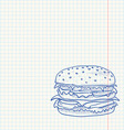 Hamburger Sketch vector image vector image