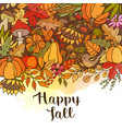 hand drawn doodle autumn background vector image vector image