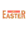 happy easter t-shirt print with golden eggs vector image vector image