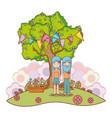 hippie people cartoon vector image vector image