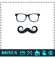 hipster icon flat vector image vector image