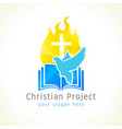holy spirit church logo vector image vector image