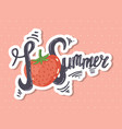 i love summer lettering vector image
