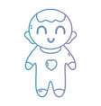 line nice baby boy with pijama and hairstyle vector image vector image