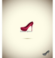 Logo shoe store fashion collection boutique label vector image
