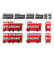 london double decker bus tourist attraction vector image