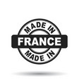 made in france black stamp on white background vector image vector image