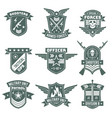 military badges army patches embroidery chevron vector image