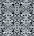 monochrome hand drawn seamless entangle pattern vector image vector image