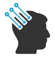 Neuro Interface Flat Icon vector image vector image
