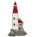 Old stone lighthouse vector image vector image