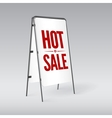 Pavement sign with the text Hot sale vector image vector image
