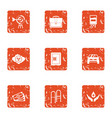 pecuniary aid icons set grunge style vector image vector image