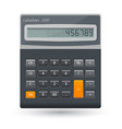 realistic calculator icon isolated on vector image