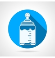 Round blue icon for baby bottle vector image vector image