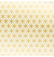 sacred geometry golden gradient flower of life vector image vector image