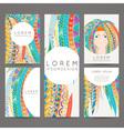 Set of design templates Brochures in random vector image vector image