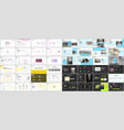 set of minimal presentation templates vector image