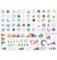 set timeline infographic design templates vector image vector image