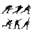 set winter sport ice speed skating vector image vector image