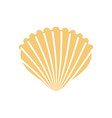 shell isolated conch in white background vector image