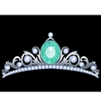 Silver tiara vector image vector image