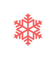simple snowflake icon graphic isolated element on vector image vector image