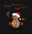 snowman from handball balls with sparklers vector image
