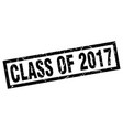 square grunge black class of 2017 stamp vector image vector image