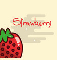 strawberry fruit delicious shiny poster vector image