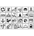 summer vacation icon collection vector image