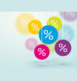 symbol percent discounts and blur icon on a vector image vector image