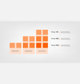 tape chart steps infographics - can a vector image vector image