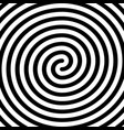 thick black double spiral symbol simple flat vector image vector image