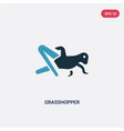 two color grasshopper icon from animals concept vector image