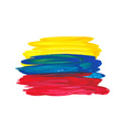 Watercolor ecuador flag vector image vector image