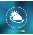 weather icon rain closeup sunlight shine isolated vector image vector image