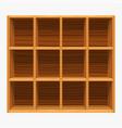 wooden shelves store on white vector image vector image