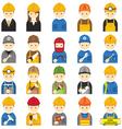 Worker Craftsman Symbol Icons Set vector image vector image