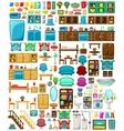 Big set of furniture vector image