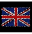 flag of Great Britain by dirty brush vector image
