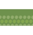 Green trees stripes horizontal seamless pattern vector image