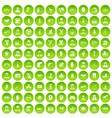 100 human resources icons set green circle vector image vector image