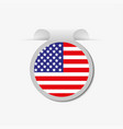 an american flag as a sticker on a gray background vector image
