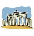 Berlin Brandenburg Gate vector image vector image