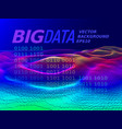 big data 3d graph vector image vector image