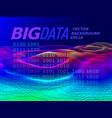 big data 3d graph vector image vector image