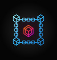block chain colored linear concept icon vector image vector image