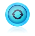 Blue update button vector image